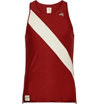 Tracksmith Van Cortlandt Striped Mesh Tank Top Claret
