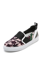 Msgm Floral Gore Slip On Sneakers