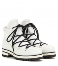 Jimmy Choo Ditto Flat Leather Boots White