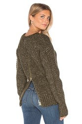 Minkpink By The Fire Sweater Green