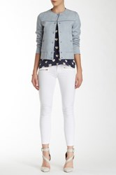 Siwy Michaela Low Rise Cropped And Tapered Slim Jean White