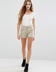 Only Lise Antifit Shorts Silver Mink Tan