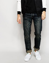 Bellfield Blue Black Jeans In Slim Fit Blueblack