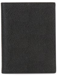 Thom Browne Passport Holder In Pebble Grain Black