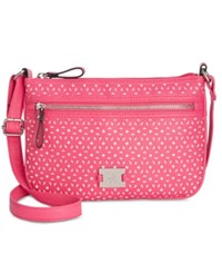 Styleandco. Style And Co. Passport Perforated Crossbody Only At Macy's Pink Perf