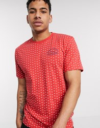 Tom Tailor T Shirt With All Over Palm Print Red