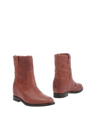 Julie Dee Ankle Boots Brick Red