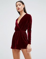 Parisian Skater Dress In Velvet Wine Red