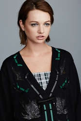 Toga Pulla Embroidered Knit Sweater Black