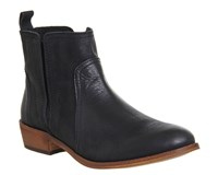 Office Lone Ranger Casual Chelsea Boots Black Leather
