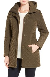 Gallery Women's Quilted Hooded Jacket British Khaki
