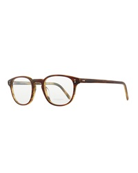 Oliver Peoples Fairmont 47 Acetate Fashion Eyeglass Frames Brown