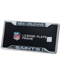 Stockdale New Orleans Saints Carbon License Plate Frame Gray