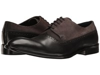 Messico Palmiro Black Leather Grey Suede Leather Shoes