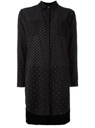 Twin Set Polka Dot Oversized Shirt Black