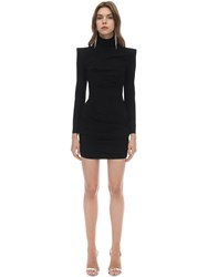 Alex Perry Techno Crepe Mini Dress Black