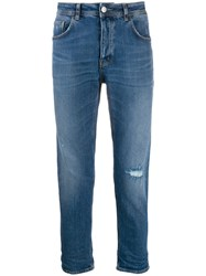 Haikure Straight Leg Denim Jeans Blue