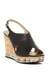 Ellen Tracy Nieve Wedge Sandal Black