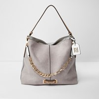 River Island Grey Chain Front Slouch Underarm Bag
