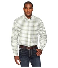 Cinch Long Sleeve Plain Weave Plaid White 9 Long Sleeve Button Up