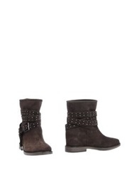 Twin Set Simona Barbieri Ankle Boots Dark Brown
