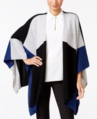 Charter Club Cashmere Colorblocked Wrap Cardigan Only At Macy's Moonlight Blue