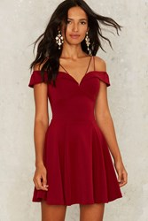 Rare London Mystique Fit And Flare Dress Red