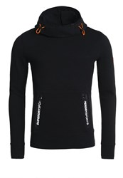 Superdry Gym Tech Funnel Pocket Hoodie Black