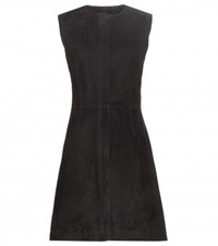 Balenciaga Suede Dress Black