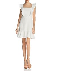 Lucy Paris Ruffled Textured Dress 100 Exclusive White