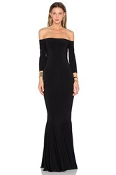 Norma Kamali Off The Shoulder Fishtail Gown Black