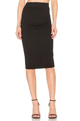 James Perse Shirring Pencil Skirt Black