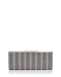 Sondra Roberts East West Crystal Clutch Grey