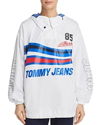 Tommy Jeans Racing Logo Anorak Bright White