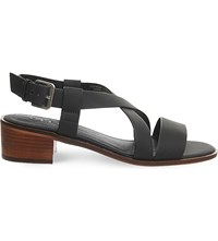 Office Midtown Cross Over Heeled Sandals Black