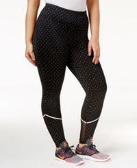 Ideology Plus Size Printed Leggings Only At Macy's Noir