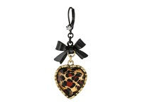 Betsey Johnson Euro Leopard Heart Black Bow Leopard Pot Black Earring