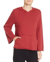 Michelle By Comune Hillsdale Bell Sleeve Hooded Sweatshirt 100 Exclusive Burgundy