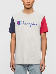 Champion Reverse Weave Color Block Script Logo S S T Shirt