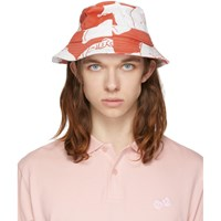 Band Of Outsiders Red And White Hawaiian Bucket Hat