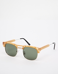 Spitfire Rockabilly Clubmaster Sunglasses Yellow