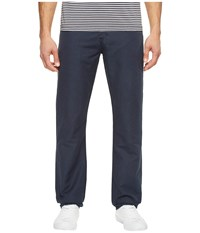 Ag Adriano Goldschmied Graduate Tailored Leg Linen Pants In Sulfur Night Sea Sulfur Night Sea Men's Casual Pants Navy