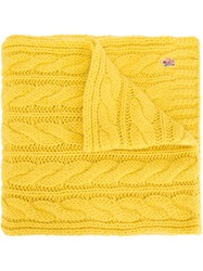 Moncler Grenoble Cable Knit Scarf Yellow And Orange