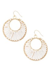 Natasha Couture Women's Beaded Hoop Earrings