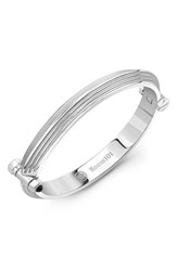 Room101 Men's Blade Bangle Bracelet Silver