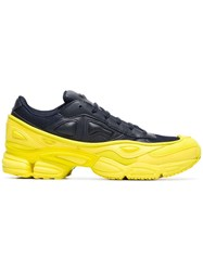 Raf Simons Adidas By Yellow And Navy Ozweego Leather Sneakers Black