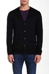 Star Usa By John Varvatos Long Sleeve Button Front Cardigan Black