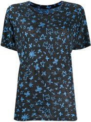 Zadig And Voltaire Aria Cross Print T Shirt 60