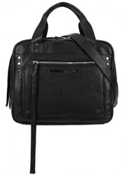 Mcq By Alexander Mcqueen Loveless Medium Black Leather Duffle Bag