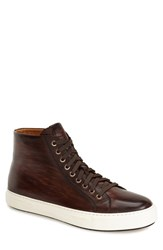 Men's Magnanni 'Brando' High Top Sneaker Mid Brown